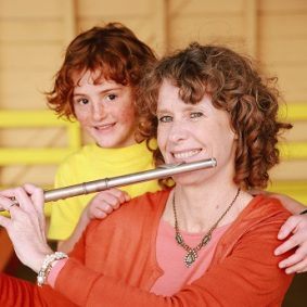 Kerry with her flute